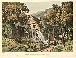 A mill at Llangollen, north Wales