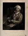 A sick man stirring his bitter medicine. Mezzotint by H. Daw Wellcome V0015253.jpg