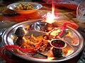 Aarti plate Raksha Bandhan India.jpg