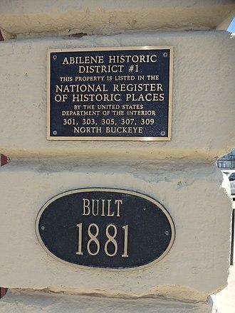 National Register of Historic Places listings in Dickinson County, Kansas - Image: Abilene, KS (14363848545)