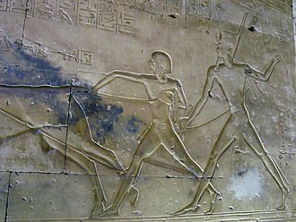 Amun-her-khepeshef - Prince Amun-her-kepshef (centre) at the Temple of Abydos