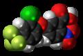 Acifluorfen molecule spacefill.png