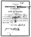 Actŭ de vaccină, Brăila, 1885.png