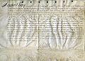 Acte juridique datant de 1688 signe par le roi Louis XIV.jpg