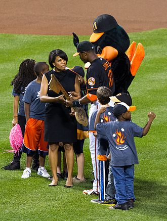 Stephanie Rawlings-Blake - Rawlings-Blake at a Baltimore Orioles baseball game in 2012.