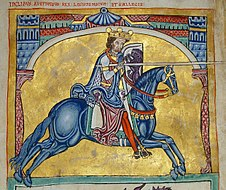 Alfonso IX, miniature from the 13th century