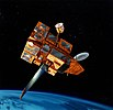 artist's drawing of the ADEOS II satellite