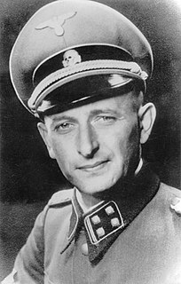 Adolf Eichmann German Nazi official, a major organiser of the Holocaust
