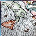 Aeaea, the island of Circe, located south of Rome with the Islands of the Sirens closeby.jpg