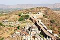 Aerial view of a the Kumbhalgarh wall.jpg