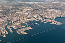 Aerial View Of The Port Long Beach
