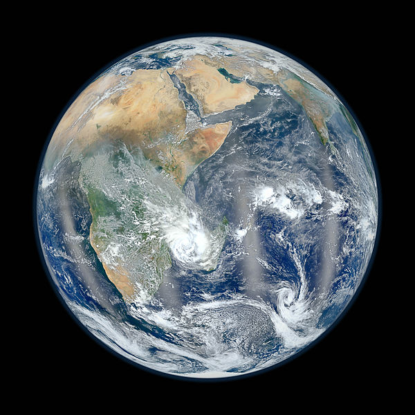Africa from low orbiting satellite Suomi