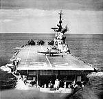 Aft view of USS Leyte (CVS-32) c1957.jpg