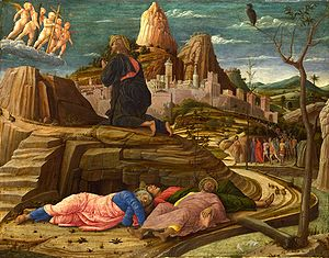 Andrea Mantegna's Agony in the Garden, circa 1...
