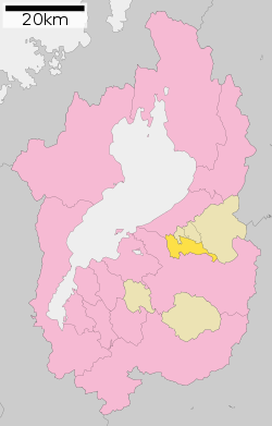 Aisho in Shiga Prefecture Ja.svg