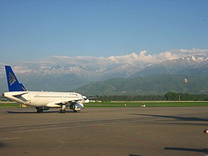 Trans-Ili Alatau - Ile Alatau as seen from Almaty International Airport