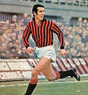 Alberto Bigon - Bigon in action with A.C. Milan at the San Siro Stadium during the 1974–75 season.