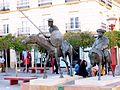 Alcázar de San Juan - Monumento a Don Quijote y Sancho Panza 01.JPG