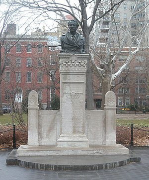 Barefoot in the Park (film) - Washington Square Park's Alexander Holley monument, where Corie finds drunken Paul late in the film.
