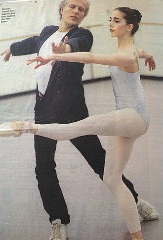 Alexandra Ansanelli - Image: Alexandra Ansanelli coached by Peter Martins