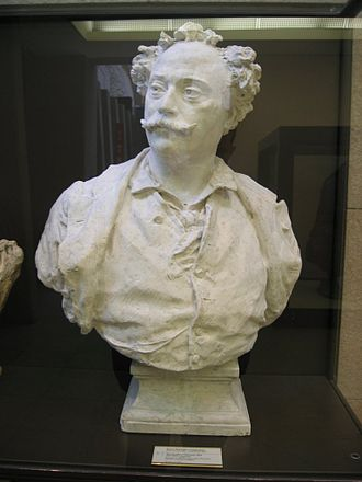 Alexandre Dumas, fils - Bust of Alexander Dumas fils, by the sculptor Jean-Baptiste Carpeaux, Orsay Museum