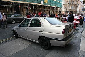 Alfa Romeo 155 - 155 with Sport trim level: 16 inch black Speedline wheels, low rear spoiler