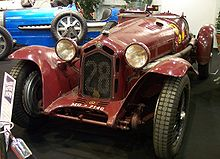 Photo d'une Alfa Romeo 8C 2300 statique.