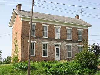 Edwardsport, Indiana - The Alfred Simonson House, a historic site in the town