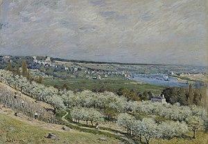 The Terrace at Saint-Germain, Spring (painting) - Image: Alfred Sisley The Terrace at Saint Germain, Spring Walters 37992