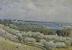 Alfred Sisley - The Terrace at Saint-Germain, Spring - Walters 37992