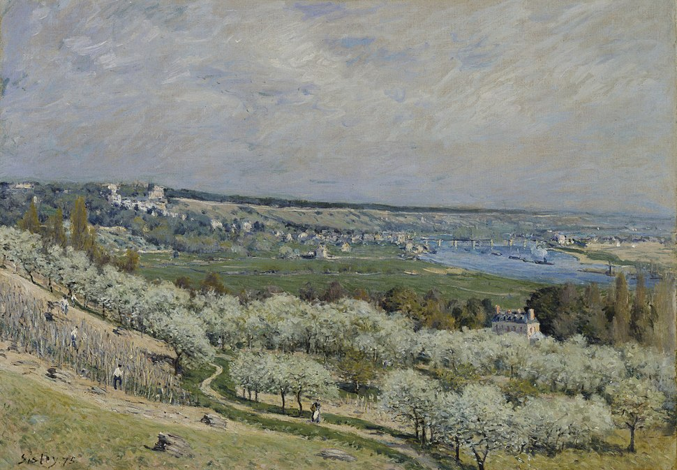 Alfred Sisley - The Terrace at Saint-Germain, Spring - Walters 37992