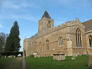 Turvey, Bedfordshire - Image: All Saints, Turvey, south aisle geograph.org.uk 1199817