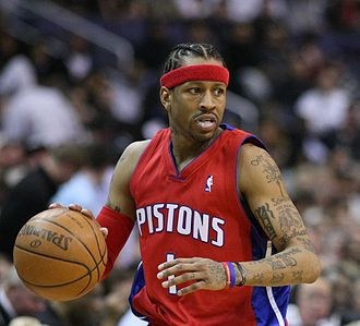 Allen Iverson - Iverson, as a member of the Pistons