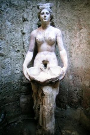 Allianoi - A nymph statue from Allianoi, which became a symbol for protestors against the submergence of Allianoi under the waters of the Yortanlı Dam.