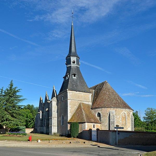 Notre-Dame church - Alluyes, Eure-et-Loir, France.