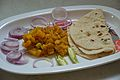 Aloo Charchari and Roti - Howrah 2015-04-19 8166.JPG