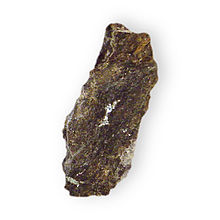 Altaite in rock Lead Telluride Hilltop Mine Organ Mountains Dona Ana County New Mexico 2261.jpg
