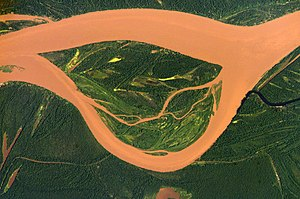 Guaviare River - The Guaviare River as seen from space