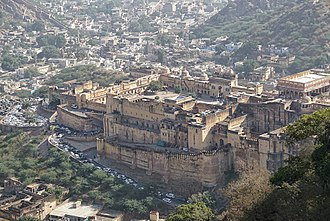 Jaipur - Amer Fort as seen from jaigarh fort