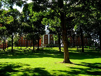 Pioneer Valley - Amherst College's Main Quad, 17 miles north of Springfield