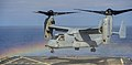 An MV-22 Osprey lifts off. (22535175232).jpg