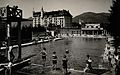 An outdoor swimming pool in Gstaad, Switzerland Wellcome V0049848.jpg