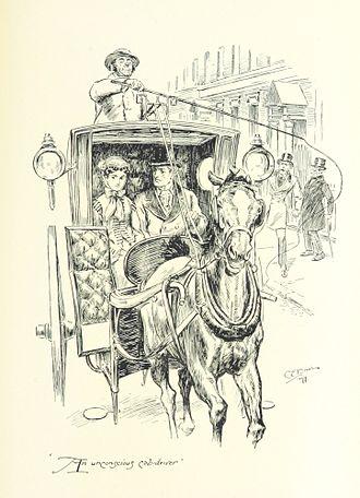 C. E. Brock - Image: An unconscious cab driver