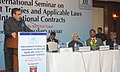 "Anand Sharma addressing at the inauguration of the ""International Seminar on Investment Treaties and Applicable Laws in International Contracts"", in New Delhi. The Vice President, Shri Mohd. Hamid Ansari is also seen.jpg"
