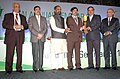 Ananthkumar presenting the award at the inauguration of the Fertilizer Association of India annual seminar 2014 on 'Unshackling the Fertilizer Sector', in New Delhi. The Minister of State for Chemicals & Fertilizers.jpg