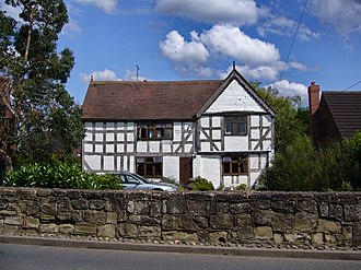Listed buildings in Highley - Image: Ancient house Highley panoramio