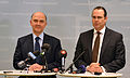 Anders Borg and Pierre Moscovici at a press conference March 2013 001.jpg