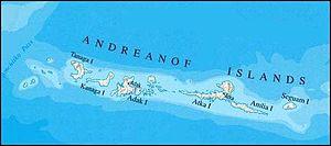 Andreanof Islands - Map of the Andreanof Islands.