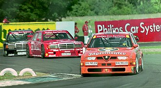 Andy Wallace (racing driver) - Andy Wallace - Team Jagermeister-Schubel - Alfa Romeo 155 V6 TI 93, Donington DTM 1994