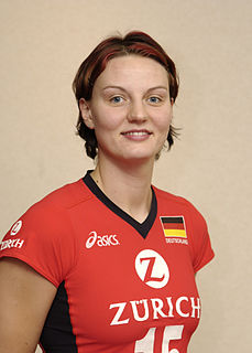 Angelina Grün female volleyball player from the Germany
